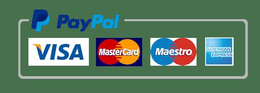 Pagamento sicuro con carta di credito/PayPal